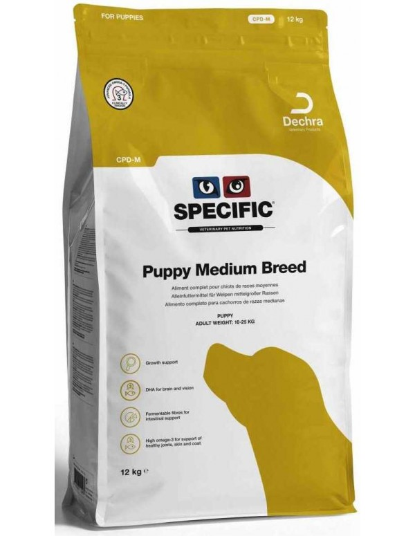 Specific CPD-M Puppy Medium Breed 12 Kg Alimento Seco Cão