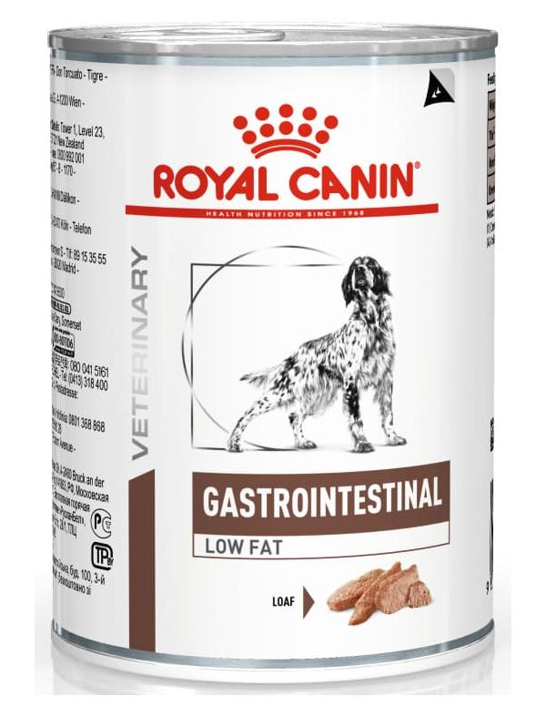 Royal Canin VD Gastrointestinal  Low Fat Alimento Húmido Cão