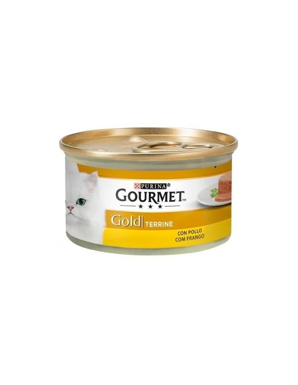 GOURMET Gold Terrine Frango Alimento Humido Gato