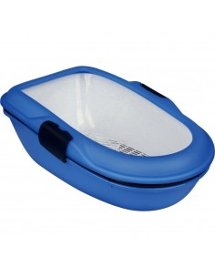 """Toilete """"BERTO"""" c/ crivo p/ gatos (Azul/Granito)"""
