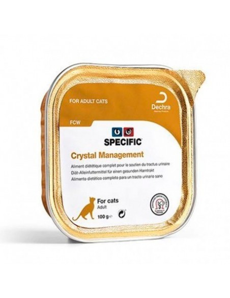 Specific VD FCW Crystal Management Alimento Humido Gato 7 X 100 Gr