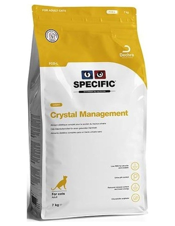 Specific VD FCD-L Crystal Management Light Alimento Seco Gato