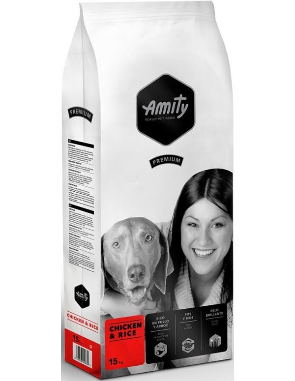 Amity Adulto Premium Chicken e Rice Alimento Seco Cão