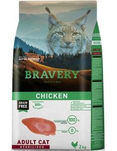 Bravery Adult Chicken Sterilised (Grain free) Alimento Seco Gato