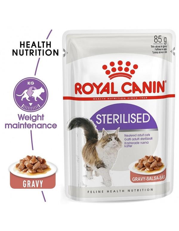 Royal Canin Sterilised Alimento Húmido Gato Saquetas (Molho)