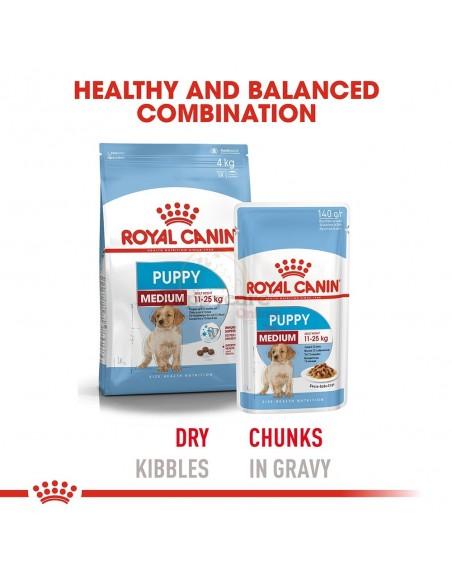 Royal Canin SHN Medium Puppy Alimento Húmido Cão
